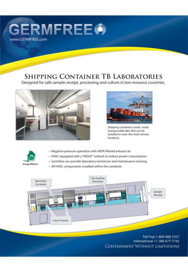 Germfree Shipping Container TB Laboratory flyer